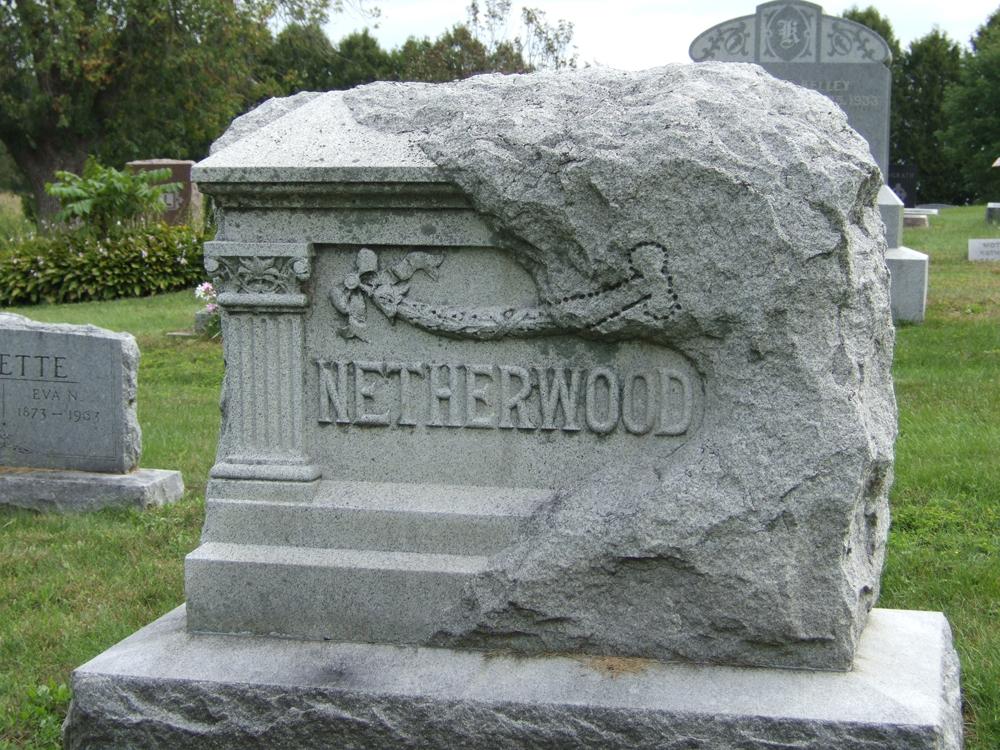 Netherwood gravestone at Prairie Mound Cemetery
