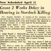 Stordock Murder cont'd