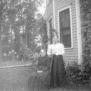 Sofia Johnson and daughter Anna Johnson Gafke 1908